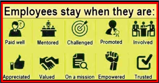 Employees stay when they are
